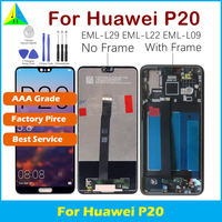 AAA Grade For Huawei P20 With 3D Force Touch Screen Digitizer Assembly EML L29 L22 L09 AL00 For Huawei P20 Display No Dead Pixel