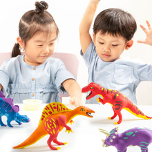 New 6 Kinds Dinosaur Modeling Clay Super Light Polymer Creative DIY Slim Toy Gift for Children