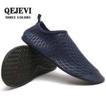 лучшая цена QEJEVI Men Women Baech Shoes Quick Dry Black Upstream Shoes Slip-On Aqua Water Shoes Comfortable Beach Pool Swim Bathing Sneaker