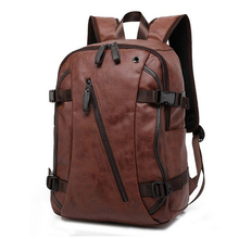 Vintage PU Leather Backpacks For Men College Bags School Tra