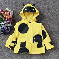 Impermeável crianças bonito dos desenhos animados capa de chuva com capuz crianças chuva poncho rainsuit casacos capa chuva terno jaqueta 60yy232