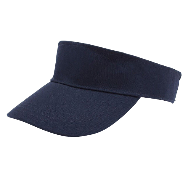 Men Women Sun Visor Cotton Sports Golf Tennis Headband Adjustable Cap Hat, Navy Blue