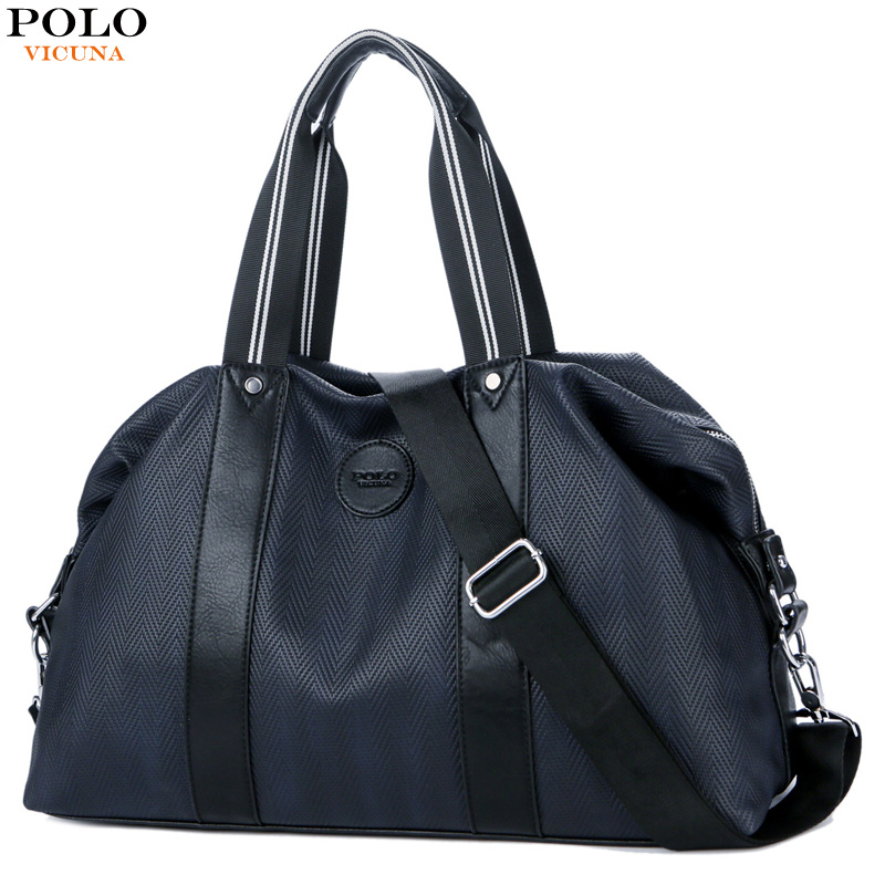 VICUNA POLO Oxford Leather Travel Bags Hand Luggage For Men Fashion Duffle Bag Travel Or ...
