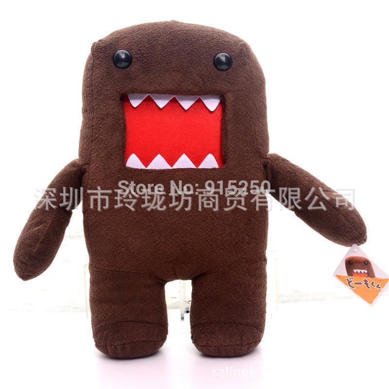 Stuffed Amazing Dark Brown Cartoon Domo-Kun Dolls Plush Dolls Item Cotton DOMO Kun Plush Toy Doll 16'' Brand New#LNF