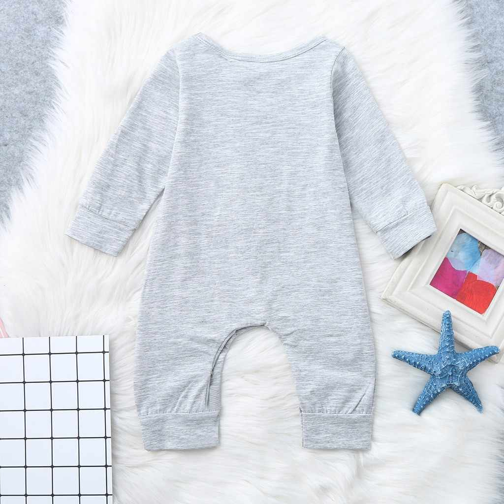 2018 New Newborn Baby Boys Girls Romper Long Sleeved Stars Print Romper Jumpsuit Clothes Kid Jumpsuit Playsuit Outfits Clothing