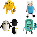 Adventure Time Animals Plush Toys Soft Stuffed Dolls 4style Choose Jake Finn Beemo Bmo Penguin Gunter Free Shipping