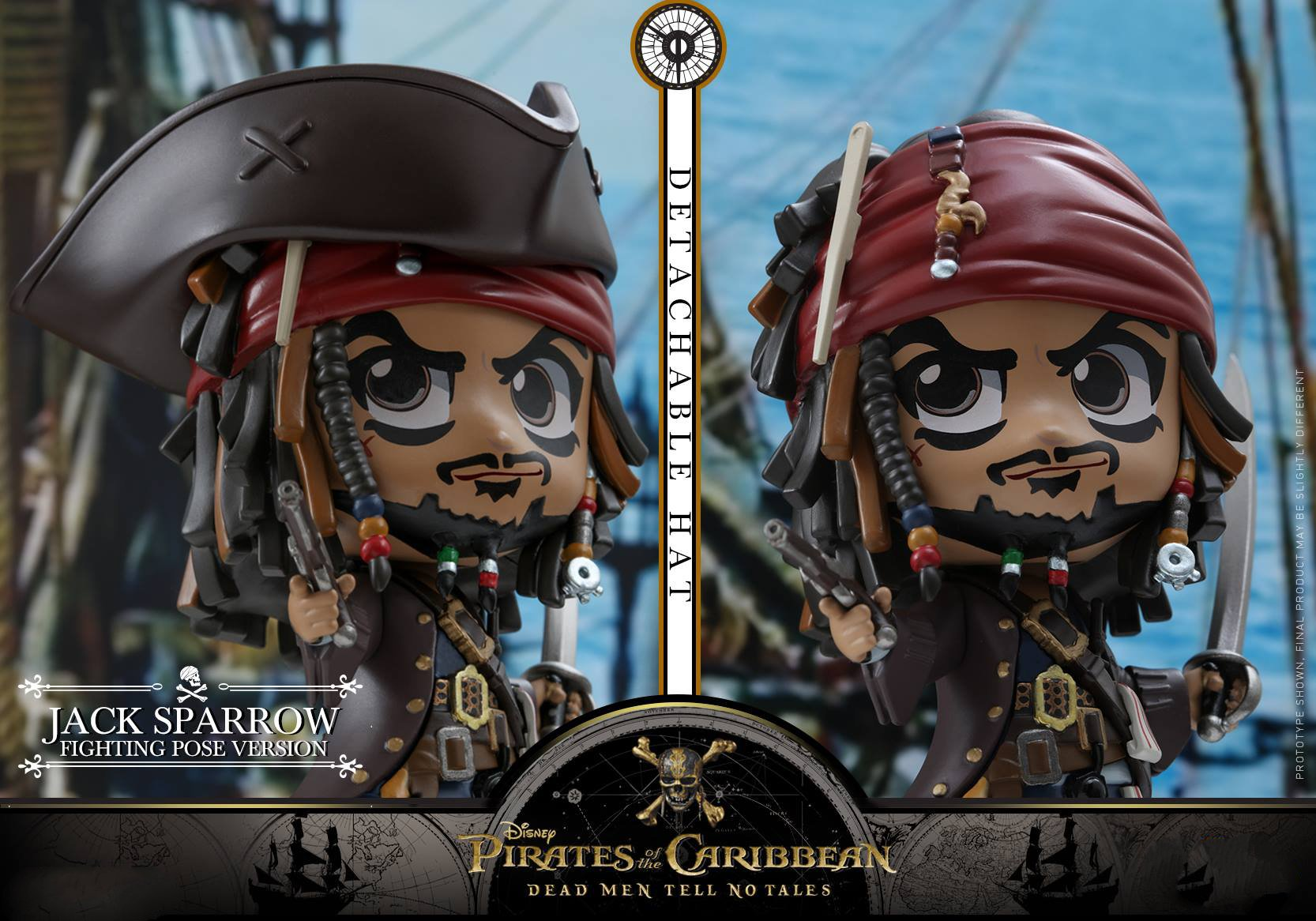 HT Hottoys COSBABY Pirates of The Caribbean 5 COSB372 Captain Jack Sparrow / COSB373Jack Sparrow (Fighting Pose Version) Cosbaby pirates of the caribbean jack sparrow 3d print mens shoulder backpack skull heads student children school bags for boys book bag