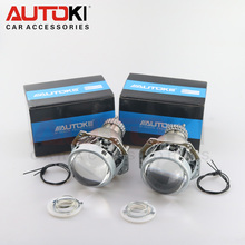 Free Shipping Autoki high bright HELLA 5 hid bi-xenon projector lens light for D2S H4 headlight free shipping pair of h4 pins headlight high