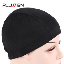 Dome-Cap Silky-Material Plussign Brand Hair-Nets Snood Making-Wigs Nylon Elastic