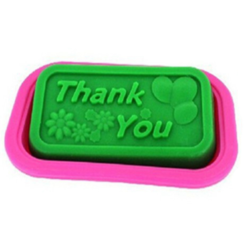 100% Hand Made Thank You DIY Silicone Mold Soap Mold Fondant Cake Decorating Tools Christmas Gift