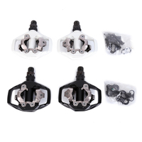 Shimano PD M530 SPD MTB Trail MTB Clipless Pedals with Cleats Black white