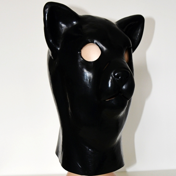 Hot Cat head style Sex product black mask Soft Latex bdsm bondage Mask Headgear fetish wear Adult BDSM sex toys for couple latex mask with tube rubber party mask full cover attached funnel plus size hot sale adult products sexy life