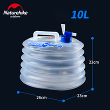 NatureHike Collapsible Water Bucket Folding Storage 5L 10 L PE Food Grade Outdoor Hiking Camping Accessories Travel Kits
