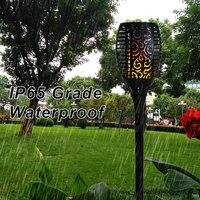 Led Garden Solar Torch Light Spike Inground Garden Lawn Landscapeing Flam Light