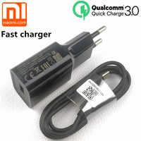 Chargeur rapide d'origine xiaomi EU QC 3.0 câble de USB type C de charge rapide pour mi 9 8 se mi 6 a1 a2 mi x max 2 3 mi 8 6 redmi note 7