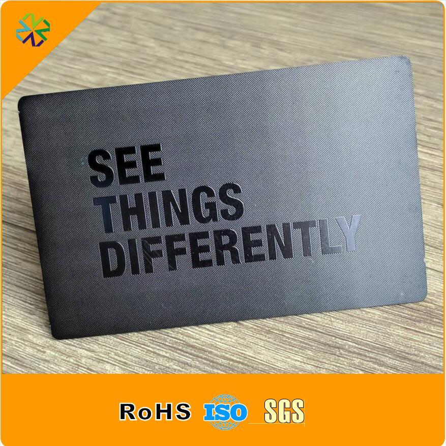 matte black metal business card/luxury business card/business card printer