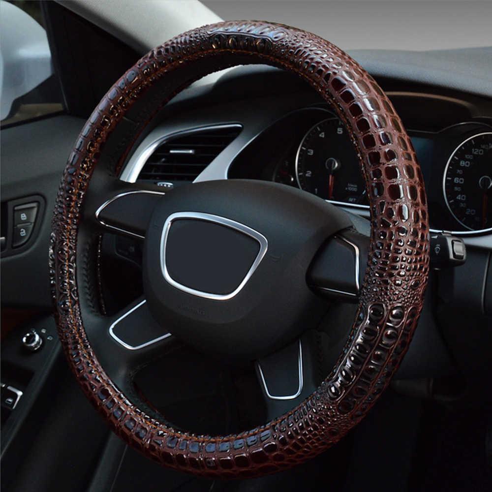 سيارة غطاء عجلة القيادة ستيريو شخصية الأزياء التمساح الحبوب تصميم غطاء عجلة القيادة s في سيارة ل 37 cm 38 cm