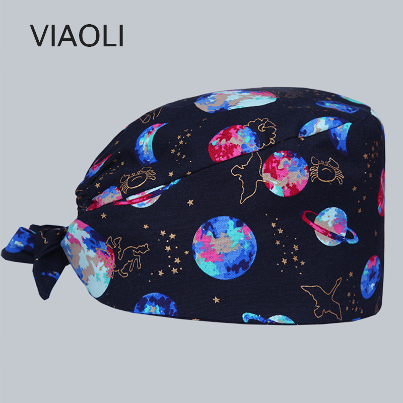Cheap Price Mouse Printed Medical Cap Clinic Surgical Hospital Doctor Hat Laboratory Pharmacy Beauty Salon Workwear Cotton Hat For Men Women Accessories