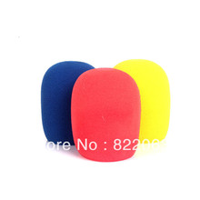 Wholesale 20 pics Cotton Windscreen Microphone Sponge Cover Protection Against Noise Many Color Free Shipping