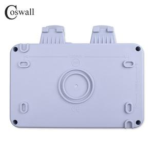 Image 5 - Coswall IP66 Chống Chịu Thời Tiết Chống Nước Ngoài Trời Tường Ổ Cắm Điện 16A Đôi Pháp Tiêu Chuẩn Ổ Cắm Điện Nối Đất AC 110 ~ 250V