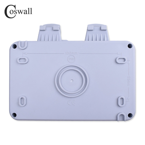 Image 4 - Coswall IP66 Weatherproof Waterproof Outdoor Black Wall Power Socket 16A 2 Gang EU Standard Electrical Outlet Grounded
