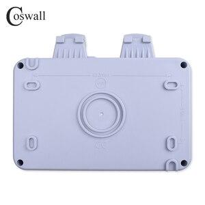 Image 4 - Coswall prise électrique 16a, 2 gangs, étanche IP66 pour lextérieur, pour mur noir, prises électriques, normes ue