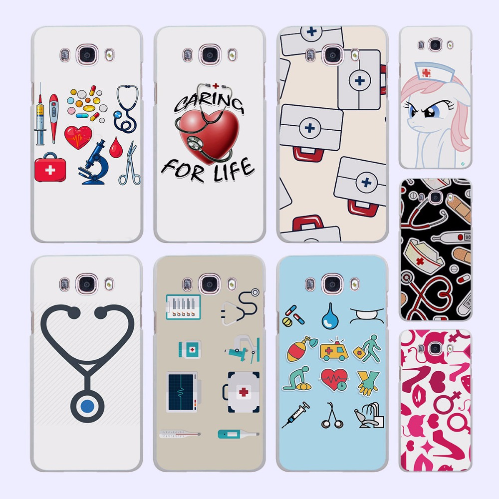 Nurse Medical Medicine Health Heart pattern White phone shell Case for Samsung Galaxy J510 J710 J5 J7 2017 J3 2016 J1 J2 Prime