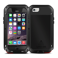 For Apple IPhone 6 Case Waterproof Shockproof Gorilla Glass Protect Phone Metal Cover Aluminum Armor For