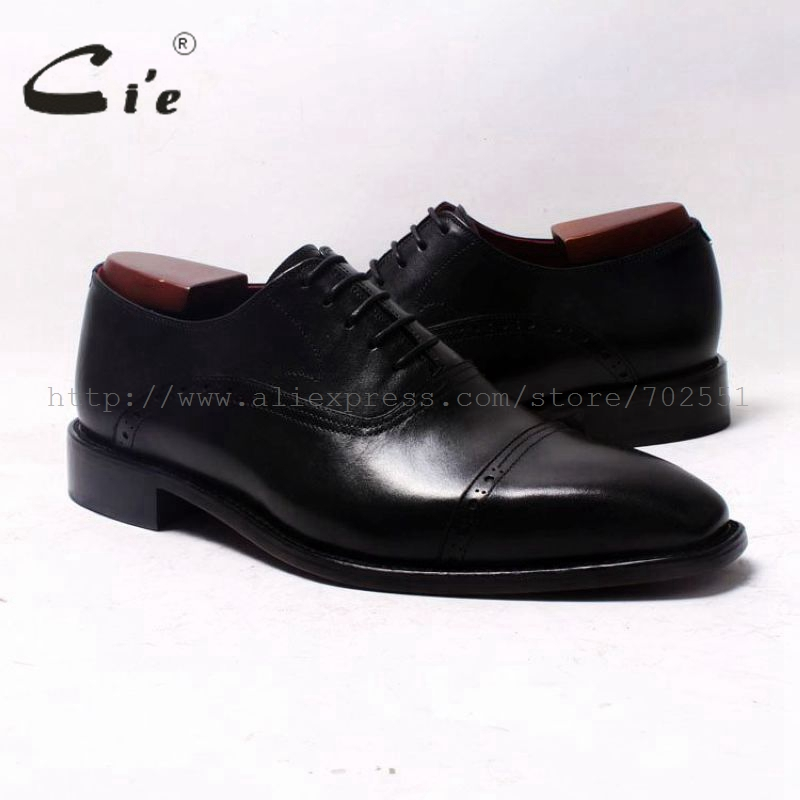 cie Square Cap Toe Oxfords Black 100%Genuine Calf Leather Outsole Breathable Leather men Shoe Bespoke Leather shoe HandmadeOX343 купить часы haas lt cie mfh211 zsa