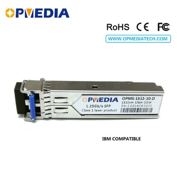IBM compatible SFP-LX-SM,1.25G 1310nm 10KM SFP transceiver,1000base LX  optical module,DDM,LC connector,Free shipping