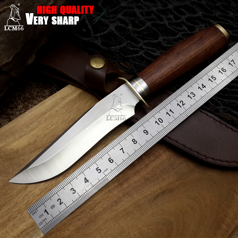 LCM66 Fixed blade knife ELK Ridge Jungle Army straight knife survival Knives outdoor hunting Knives wood handle free shipping hx outdoor fixed blade straight knife rosewood handle 5cr15mov blade knife camping hand tool survival hunting knives
