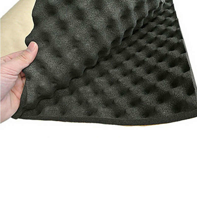 1x 0.5M 20mm Car Auto Sound Deadener Acoustic Insulation Dampening Foam Mat Pad
