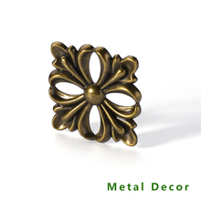 Furniture-Frame Metal-Decor Country-Style Electronic-Plating Antique Leg-Head Zinc-Alloy