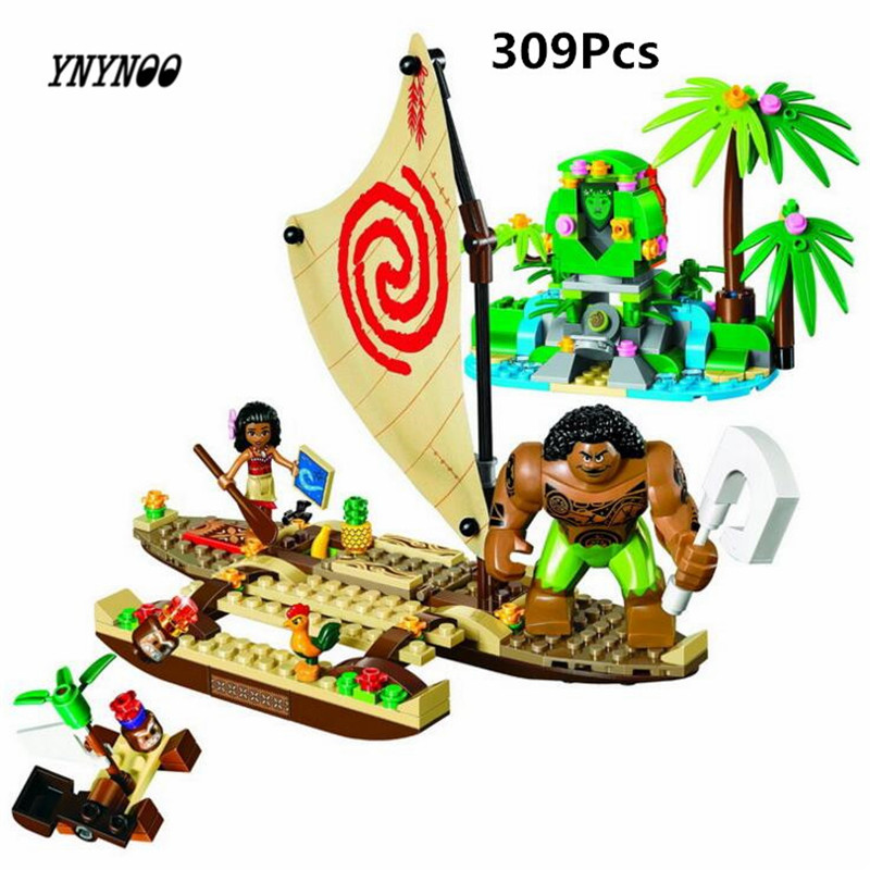 YNYNOO 10663 309pcs Girls Friends Princess Vaiana Moana Ocean Voyage Bela Building Block Compatible 41150 25003 Brick Toy chief sw2104 skull style full face mask for war game cs black