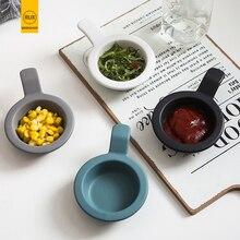 RUX WORKSHOP 4 Color Options European solid color ceramic dish Sauce salad chili restaurant tableware