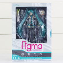 "6 ""15 cm Anime Hatsune Miku Figura Figma 014 Brinquedos PVC Action Figure Collectible Toy Kid Juguetes"