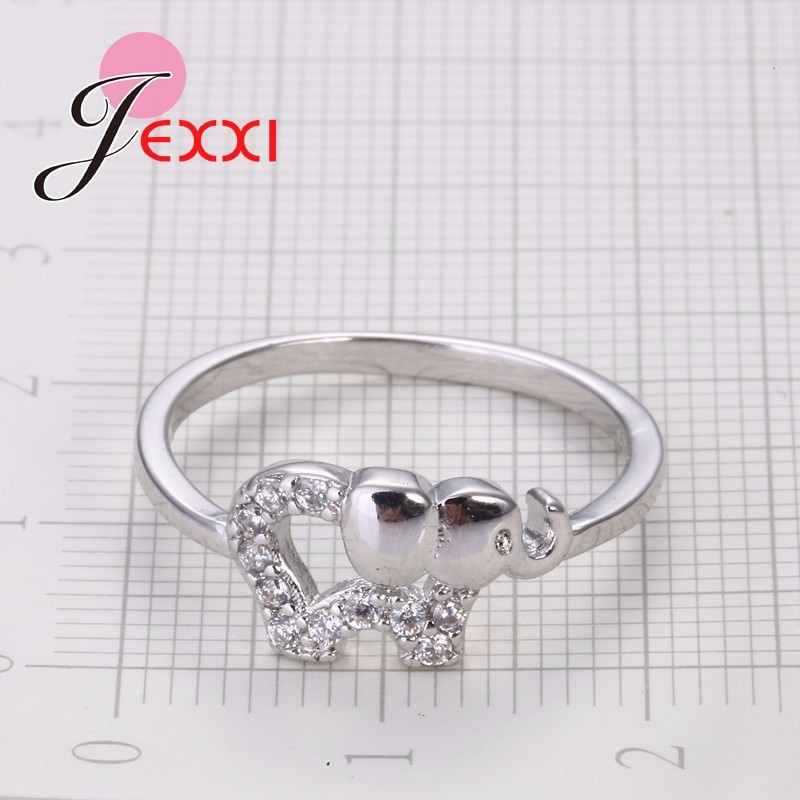Cartoon Elephant Silver Ring