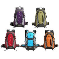 KIMLEE 35L Men Women Sport Backpack Bag With Rain Cover 3D Waterproof Camping Mountaineering Travel Hiking
