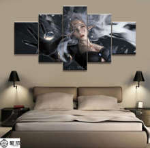 Wall Art Poster Painting Modular Pictures Living Room Decorative Canvas Printed 5 Panel WLOP Ghost Blade DNF Game Second Apostle