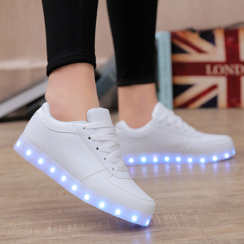 Men's Casual Shoes Led Shoes Men Nice Fashion Causal Led Luminous Shoes Lovers Fashion Basket Led Light Up Shoes For Adults Men Shoes 7c11 Shoes