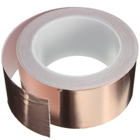 50 X 20 Mm Adhesive Single Face Electric Conduction Copper Foil Tape Shielding Guitar Slug And