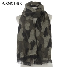 FOXMOTHER 2017 New Luxury Brand Winter Fashion Cashmere Camouflage Blanket Scarf Wrap Camo Pashmina For Womens Mens Gifts