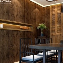 Chinese Style Classical Simulation Wood Wallpaper Living Room Bedroom TV Sofa Background Wall Paper
