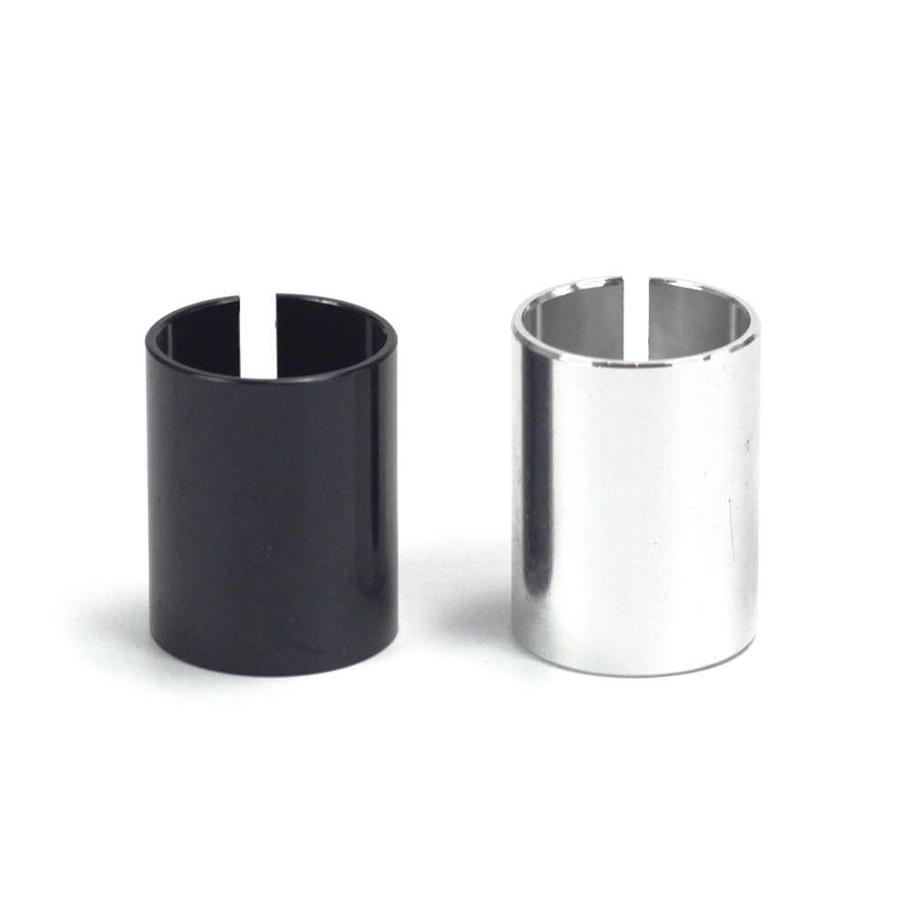 """Steer Tube Adapter Headset Spacer 1-1//8/"""" to 1/"""" Alloy Threadless Stem Shim SILVER"""