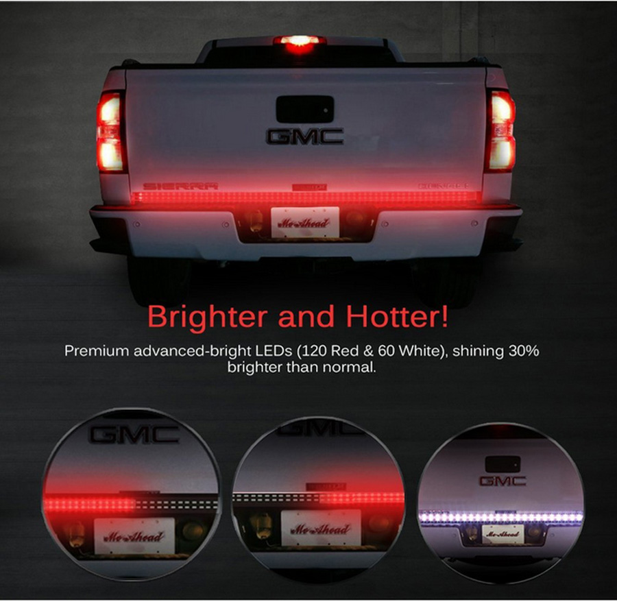 Aliexpress buy 48 2 row led truck tailgate light bar strip aliexpress buy 48 2 row led truck tailgate light bar strip redwhite reverse stop turn signal running for pickup suv rv trailer from reliable lights aloadofball Images