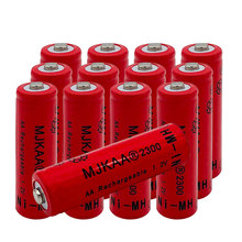 2019 Ni-MH 1.2V 2300mAh AA Rechargeable Nickel-met  1.2v NI-MH Battery 2A 2300mah aa pisen 2300mah ni mh rechargeable aa batteries green 2 pcs