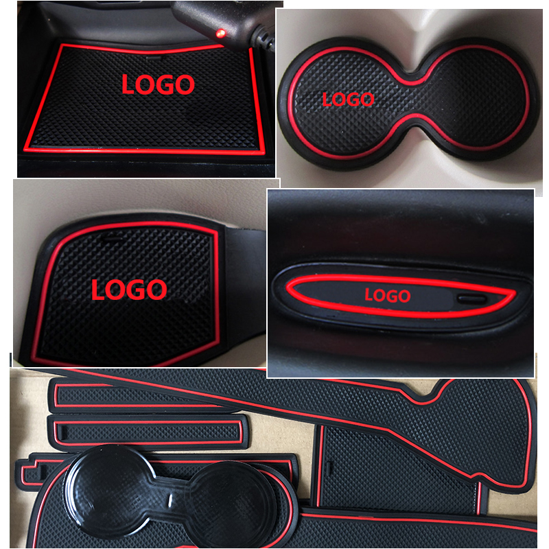 Image 3 - Anti Slip Gate Slot Mat Rubber Coaster for Ford Focus 3 MK3 2011 2012 2013 2014 pre facelift ST RS Accessories Car Stickers 13Pc-in Car Stickers from Automobiles & Motorcycles
