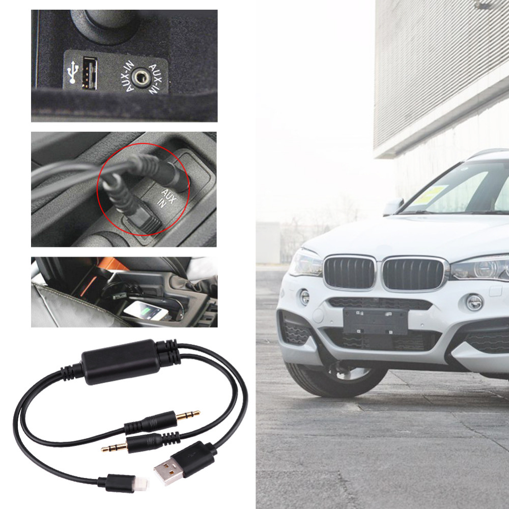 AUX Adapter Interface Cable Car USB 3.5MM AUX Adapter Interface Cable For BMW MINI Cooper Core For iPod Fast Data Transfer