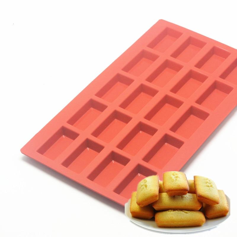 1pc outil de cuisson 20 cavite financiers moule silicone moule 11 3 6 6 0 5 pouce rouge francais gateau moule dessert outil