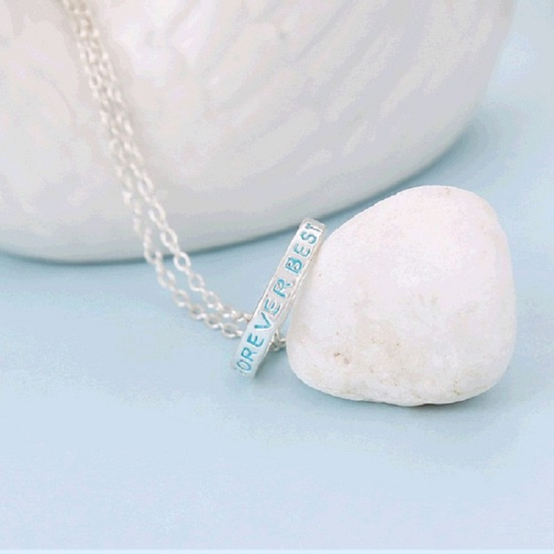NEW 3 pcs  Best Friends Forever Pendant Friendship Color Ring Necklace BFF